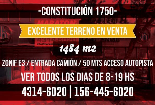 Foto Terreno en Venta en  Constitución ,  Capital Federal  constitución al 1700