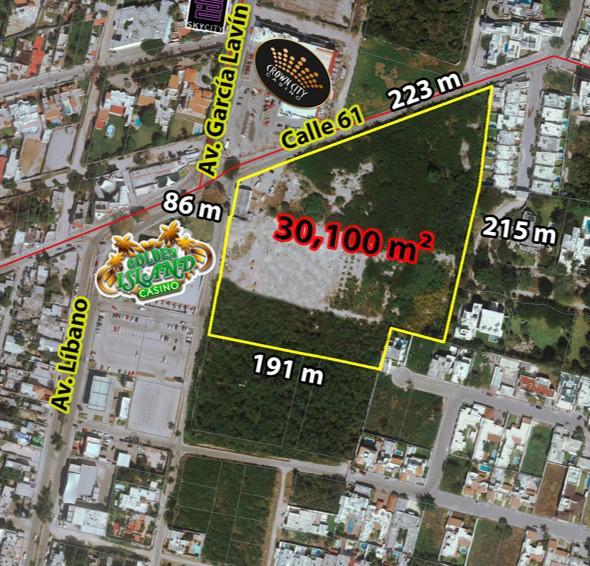 Foto Terreno en Renta en  México Norte,  Mérida  Terreno De 3.1 Hectáreas en Colonia México Norte Con Av.Lavín