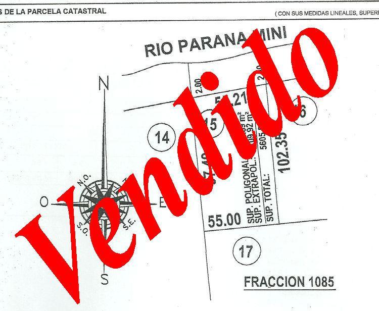 Foto Terreno en Venta en  Paraná Miní,  Zona Delta San Fernando  Paraná Miní Parcela 15