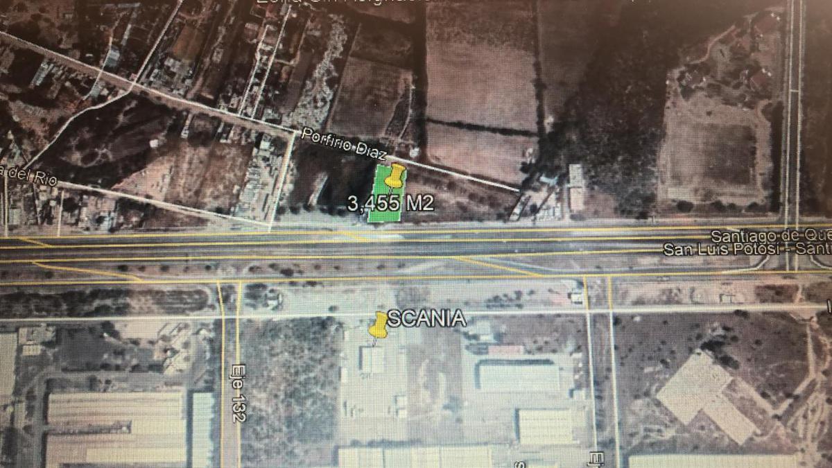 """Foto Terreno en Venta en  Zona Industrial,  San Luis Potosí  TERRENO EN VENTA EN CARR. 57, FRENTE A """"SCANIA"""""""