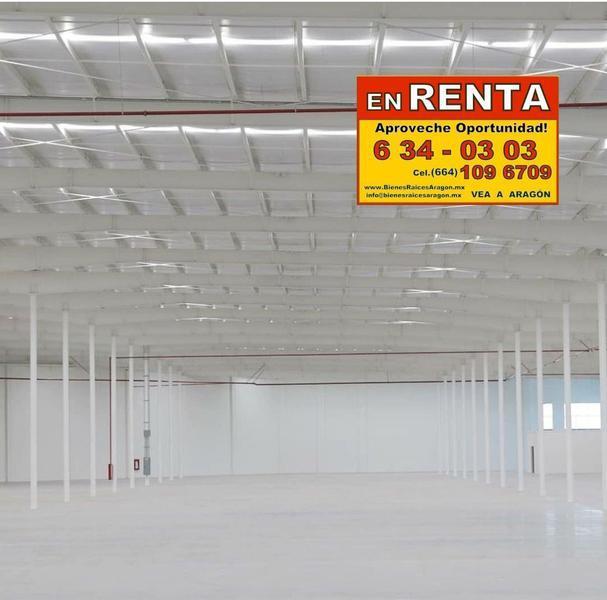 Foto Bodega Industrial en Renta en  Paseos del Pacífico,  Tijuana  RENTAMOS EXCELENTE BODEGA 3,103 MTS O 33,403 FT NUEVA PRECIOSA ESTRENELA PIP ESM