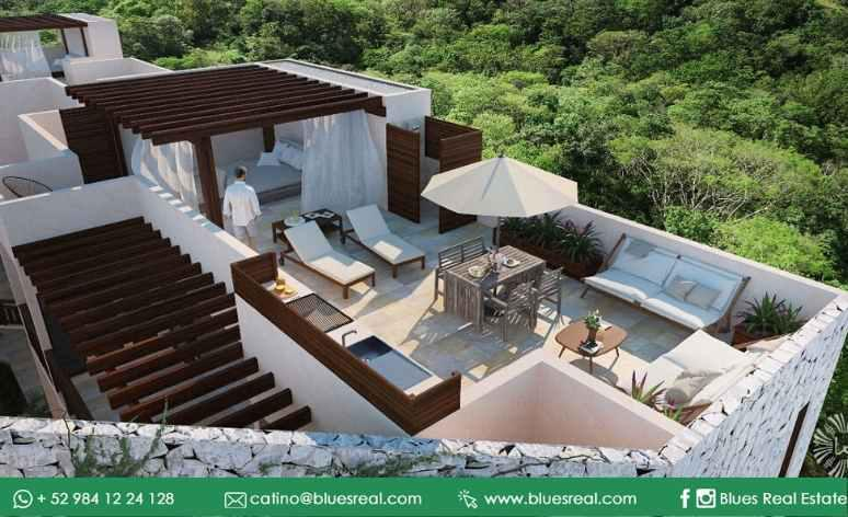 Picture House in Sale in  Tulum ,  Quintana Roo  For sale new residences in Tulum at K'uyen in Tulum | Blues Real | Code  926