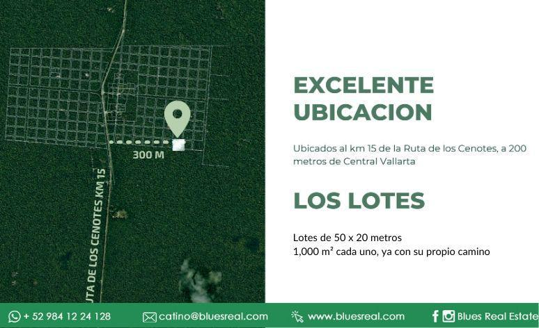 Picture Land in Sale in  José María Morelos ,  Quintana Roo  Lots for sale in Ruta de los Cenotes in Puerto Morelos | Blues Real | Code 953
