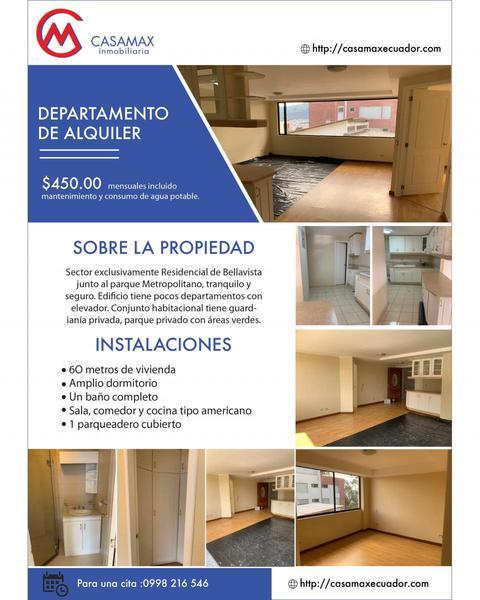 Foto Departamento en Alquiler en  Bellavista,  Quito  ANTONIO FLORES JIJON