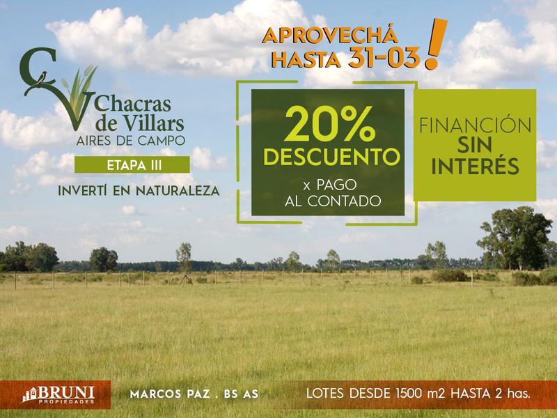 Foto Campo en Venta en  Marcos Paz ,  G.B.A. Zona Oeste  Chacras de Villars 3