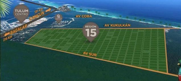 Foto Terreno en Venta en  Region 15 Kukulcan,  Tulum  Lote de mas de 2000 m2 en la Kukulkan en Tulum