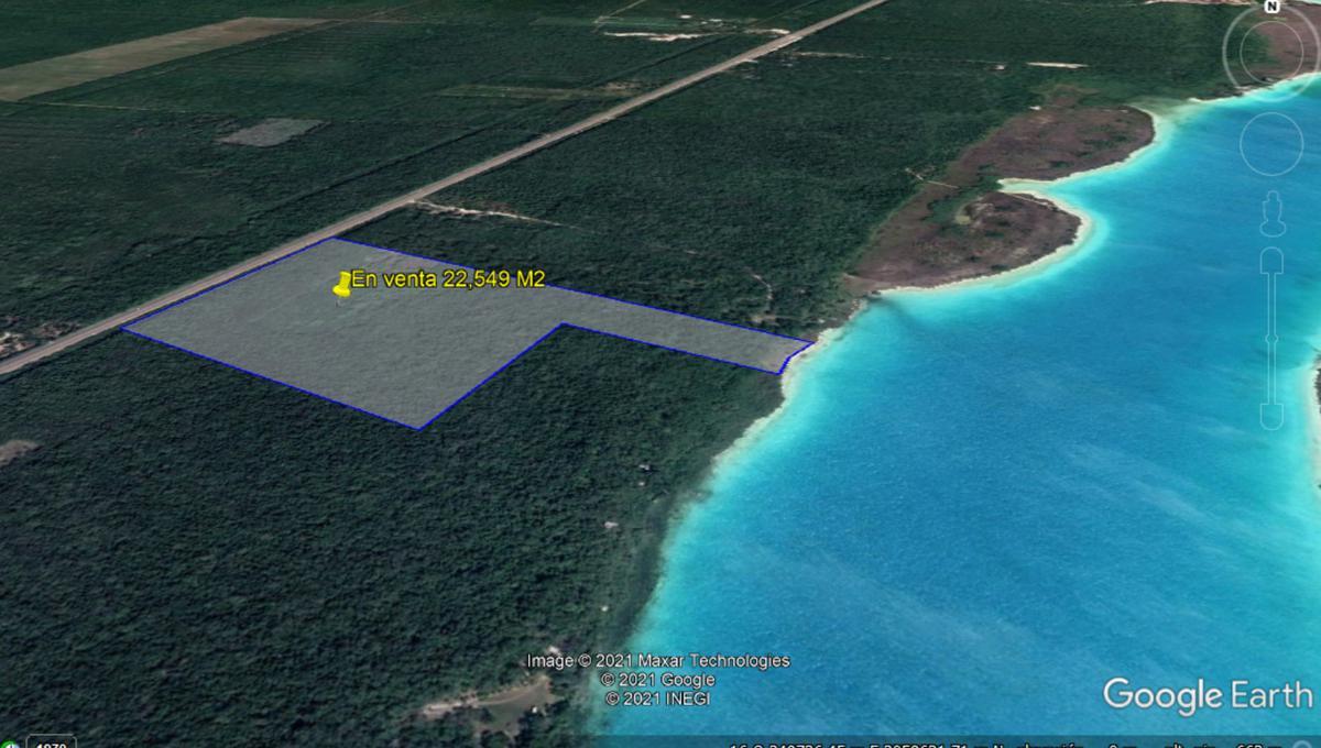 Foto Terreno en Venta en  Bacalar ,  Quintana Roo  Terreno en venta en Bacalar para desarrollo 22.5 Ha