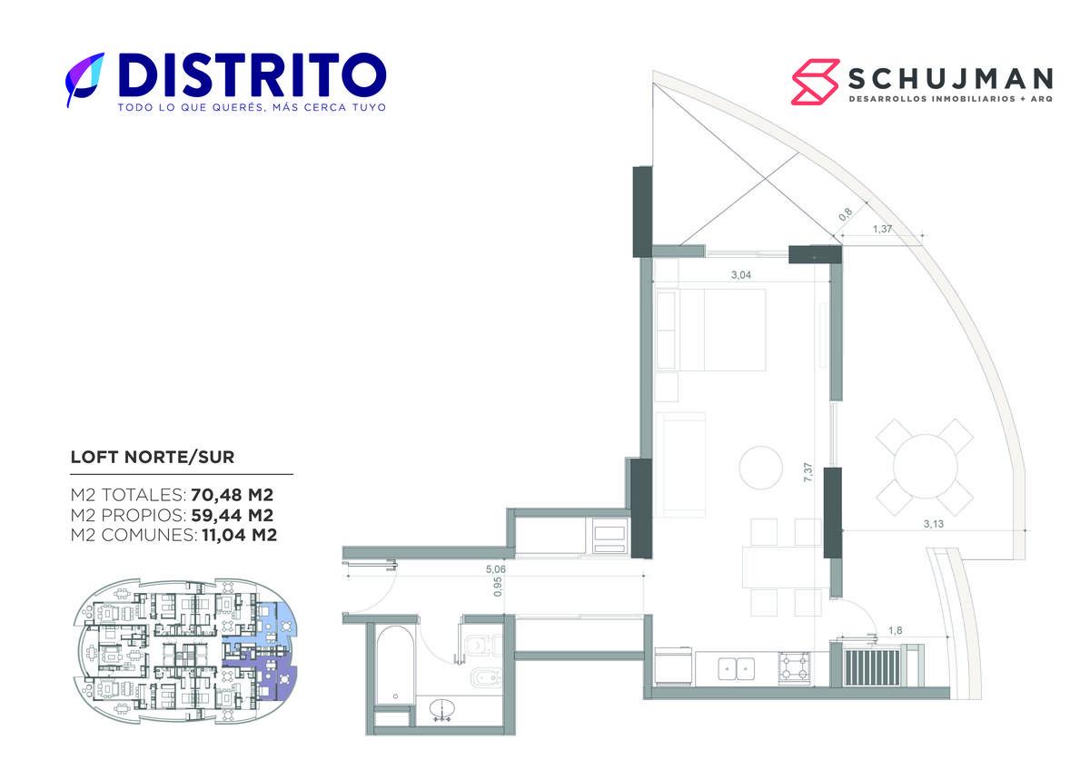 Foto Departamento en Venta en  San Miguel De Tucumán,  Capital  VENTA Loft Plus Torre del Jacaranda 2