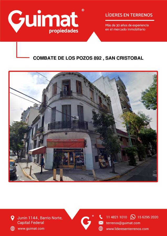 Foto Terreno en Venta en  San Cristobal ,  Capital Federal  COMBATE DE LOS POZOS al 800