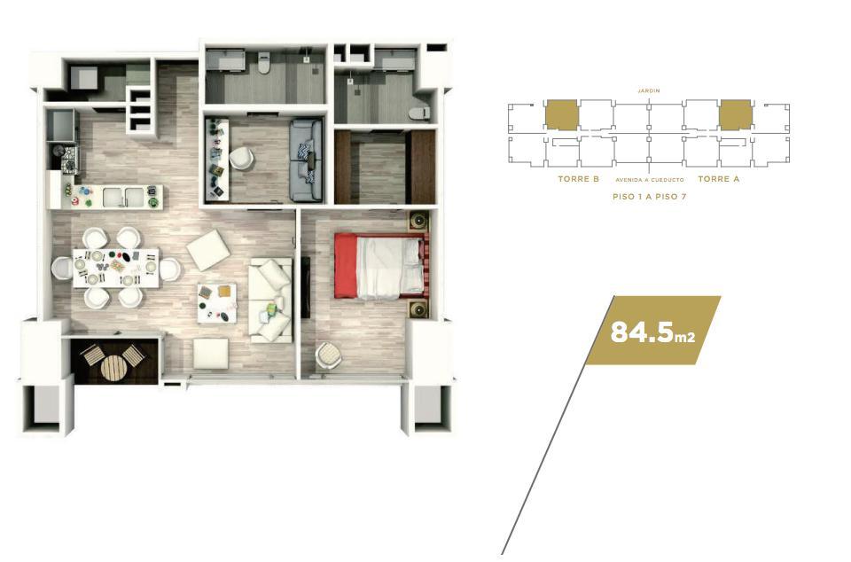 Foto Departamento en Venta en  Puerta de Hierro,  Zapopan  Cosmocrat Puerta de Hierro DV 21191