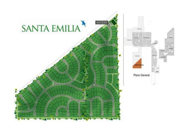 Foto Terreno en Venta en  Pilar Del Este,  Countries/B.Cerrado (Pilar)  Lote perimetral en venta en santa emilia 450m2