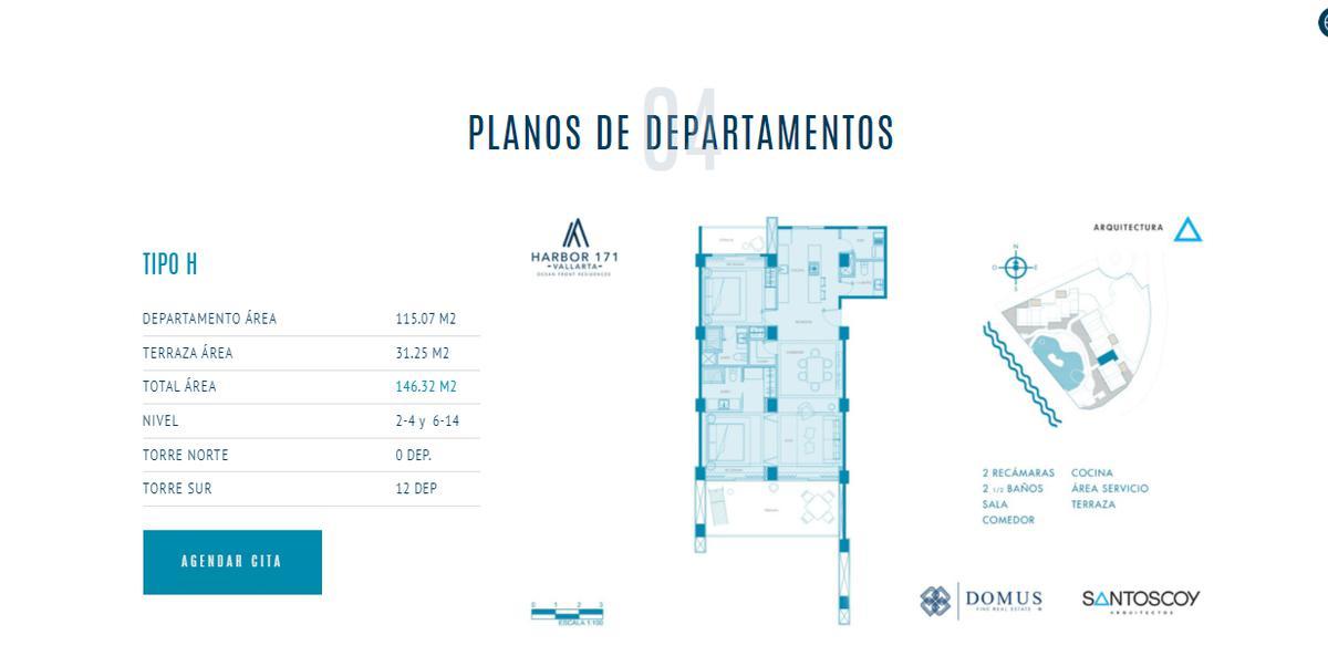 Foto Departamento en Venta    en  Las Glorias,  Puerto Vallarta  DEPARTAMENTO TIPO PHB  NIVEL 14
