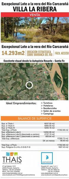 Foto Terreno en Venta en  Timbues,  Rosario  Vicente Lopez y Planes La Ribera 1