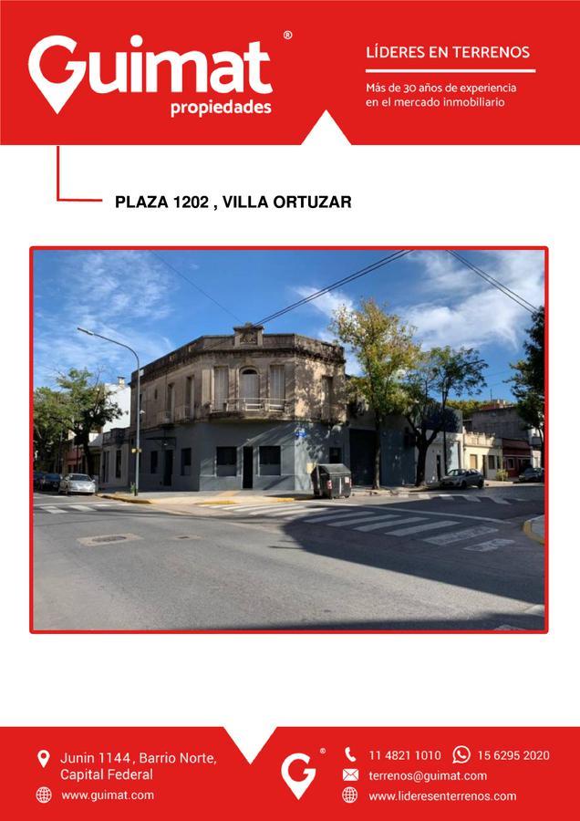 Foto Terreno en Venta en  Villa Ortuzar ,  Capital Federal  PLAZA al 1200
