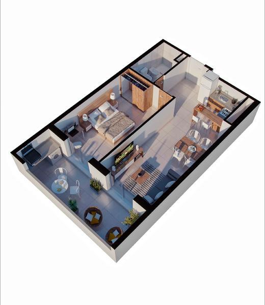 venta departamento 1 dormitorio Rosario, PELLEGRINI Y CORRIENTES. Cod CBU34621 AP3501086 Crestale Propiedades