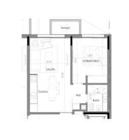 Foto Departamento en Venta   Alquiler en  Pocitos ,  Montevideo  Apartamento  De 1 Dormitorio En Alquiler,  En Pocitos Nuevo