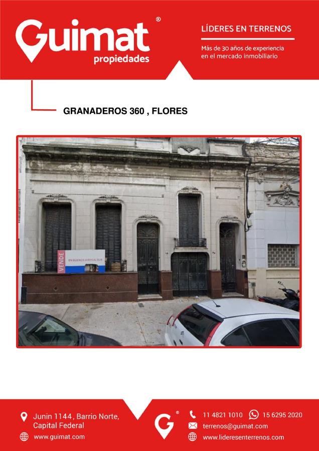Foto Terreno en Venta en  Flores ,  Capital Federal  GRANADEROS al 300