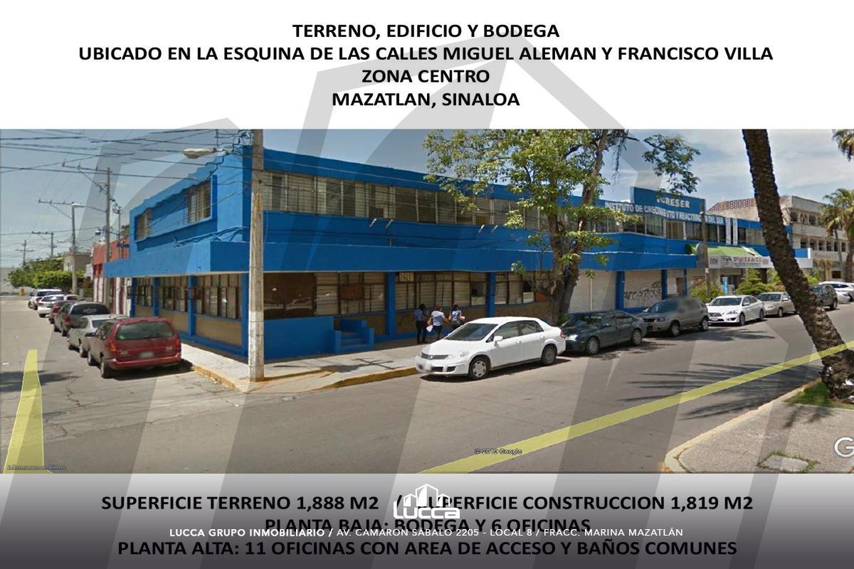 Foto Edificio Comercial en Venta en  Centro,  Mazatlán  EDIFICIO OFICINAS AV. MIGUEL ALEMAN