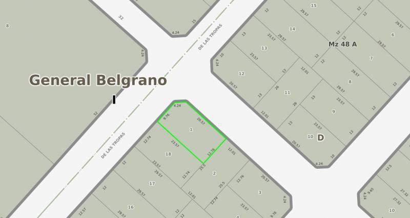 Foto Terreno en Venta en  General Belgrano,  General Belgrano  (133) Las Tropas y 32 al 100