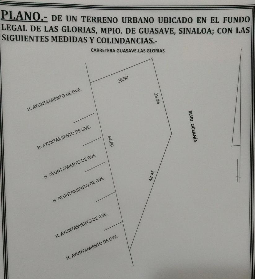 Foto Terreno en Venta en  Guasave ,  Sinaloa  Carretera a las glorias entronque con Ave. Ballena, Las Glorias, Guasave, Sin.