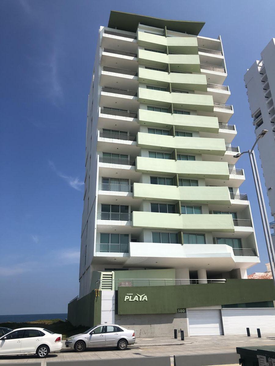 Foto Departamento en Renta en  Fraccionamiento Costa de Oro,  Boca del Río  TORRE PLAYA, Departamento en RENTA AMUEBLADO con vista al mar, 3 recámaras