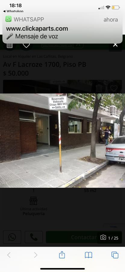 Foto Local en Alquiler en  Belgrano ,  Capital Federal  F. Lacroze al 1700