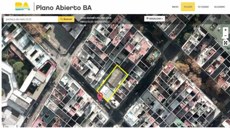 Foto Terreno en Venta en  Recoleta ,  Capital Federal  Pacheco de Melo 2115 * * . Vendible : 7685,55. Incidencia : usd 1040.