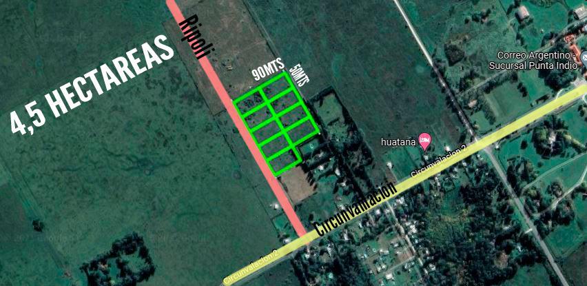 Terreno VENTA 4,5Ha - Punta Indio