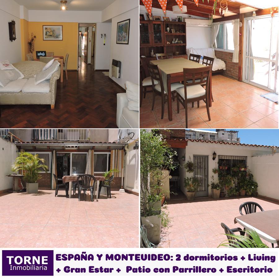 Foto Departamento en Venta en  Centro,  Rosario  2 Dormitorios con Patio y Parrillero + Estar + Escritorio/Comodín - España 1582