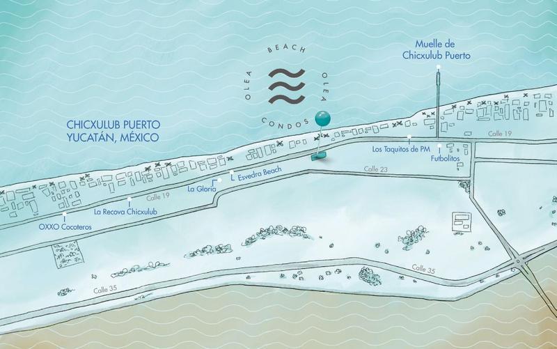 Foto Departamento en Venta en  Pueblo Chicxulub Puerto,  Progreso  DEPARTAMENTOS OLEA BEACH CONDOS, EN CHICXULUB
