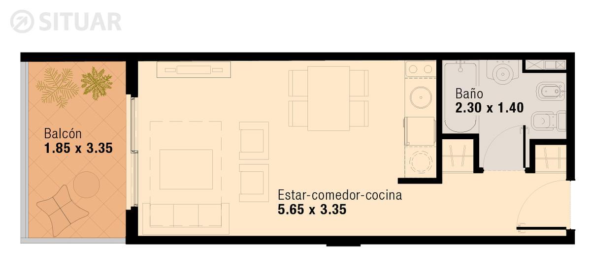 Foto Departamento en Venta en  Flores ,  Capital Federal  Pavillon San Jose - Unidad 411 - Pedernera 50 - Flores