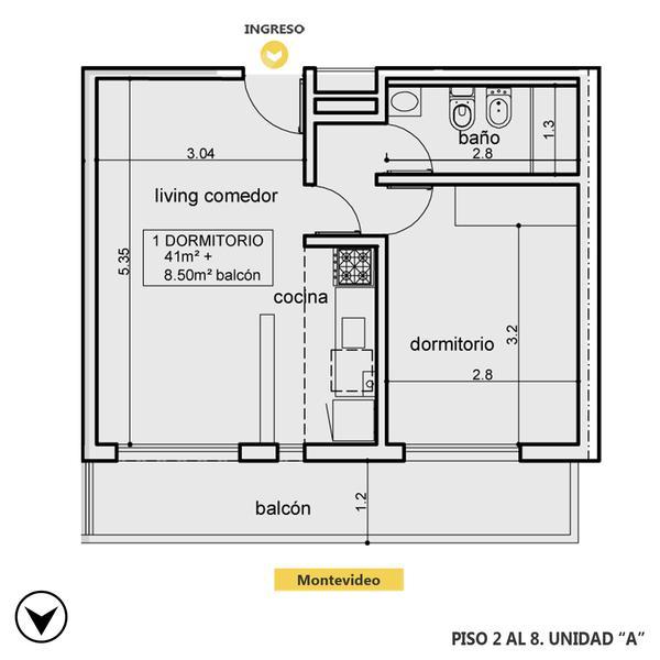 venta departamento 1 dormitorio Rosario, MONTEVIDEO Y SAN MARTIN. Cod CBU24743 AP2302024 Crestale Propiedades