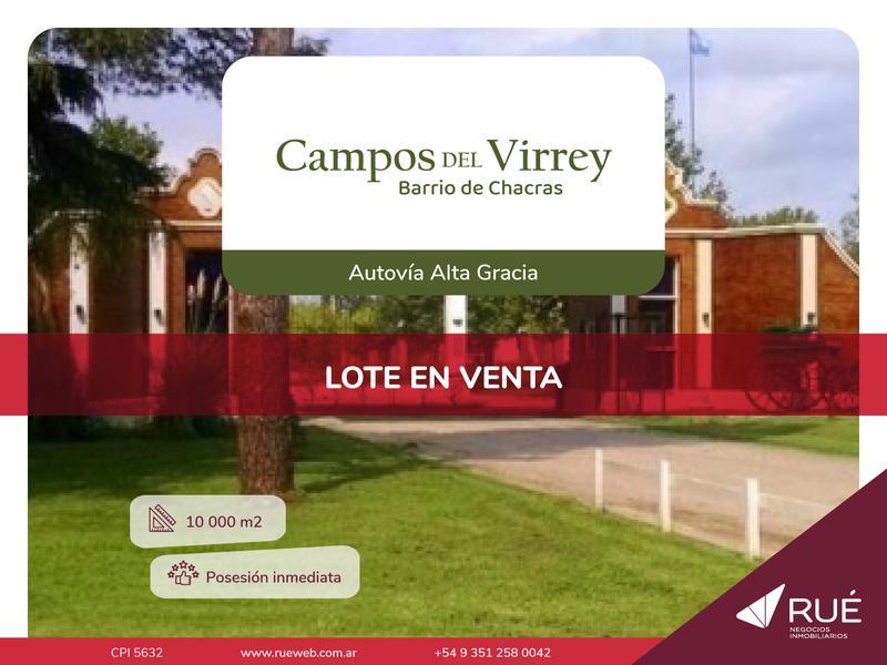 Foto Terreno en Venta en  Campos del Virrey,  Cordoba          OPORTUNIDAD Lote en venta en Campos del Virrey, camino Alta Gracia
