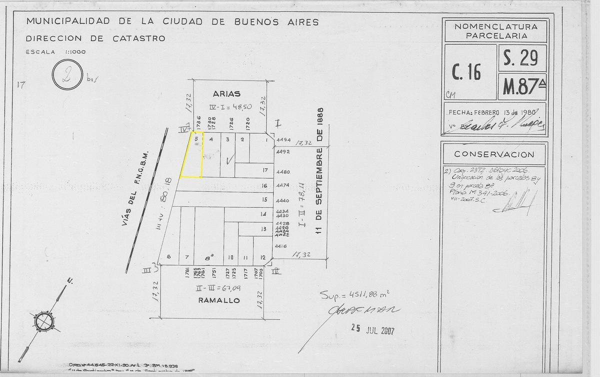 Foto Terreno en Venta en  Nuñez ,  Capital Federal  Arias al 1700