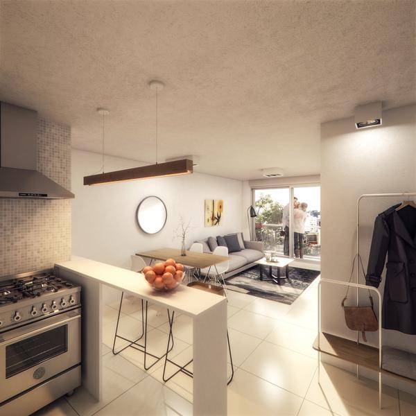 Foto Departamento en Venta en  Centro (Montevideo),  Montevideo  Moderno Apartamento Con Balcones en Living y Dormitorio