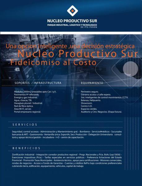 Foto Nave Industrial en Venta en  Guernica,  Presidente Peron  nucleo productivo del sur