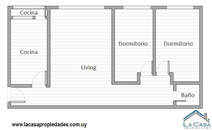 Foto Apartamento en Alquiler en  Aguada ,  Montevideo  Paraguay 1800