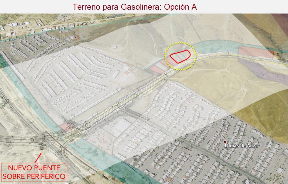 """Foto Terreno en Venta en  Nogales ,  Sonora  VENTA DE TERRENOS PARA GASOLINERAS  EN NOGALES, SONORA. OPCIÓN """"A"""", PROYECTO PUERTA DE ANZA."""