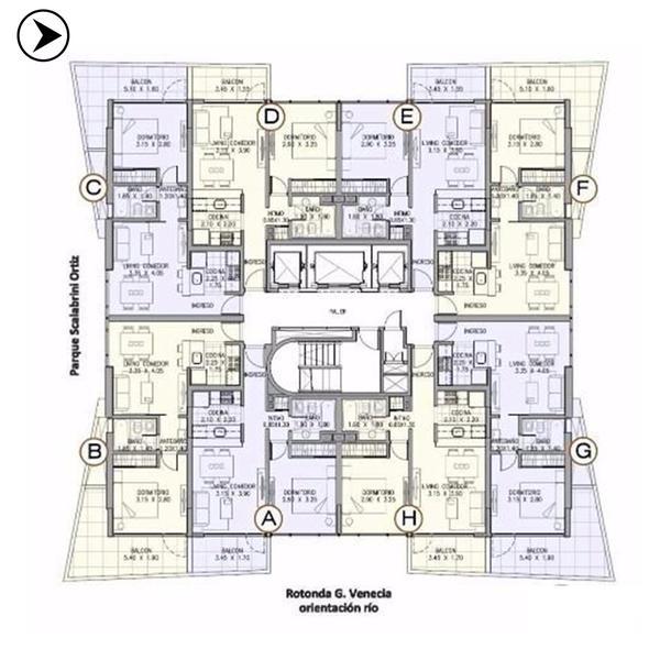 Venta departamento 1 dormitorio Rosario, Puerto Norte. Cod CAP2209159. Crestale Propiedades
