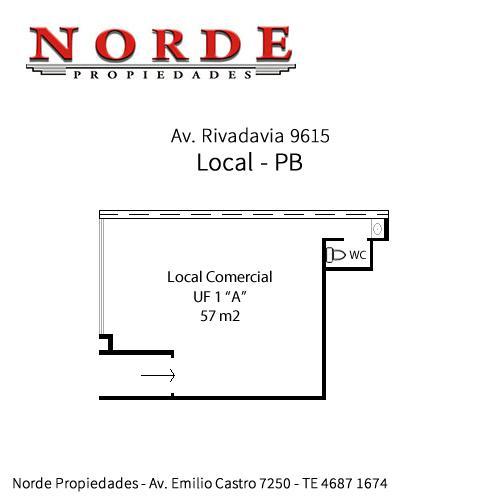 Foto Local en Venta en  Villa Luro ,  Capital Federal  Av. Rivadavia 9615 PB Local a la calle