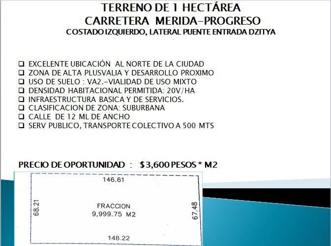 Foto Terreno en Venta | Renta en  Pueblo Dzitya,  Mérida  Terreno en venta  en Mérida, ideal para negocio con almacenaje
