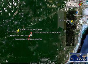 Foto Terreno en Venta en  Puerto Morelos,  Puerto Morelos  TERRENO LEONA VICARIO  50 HECTAREAS  A LA VENTA