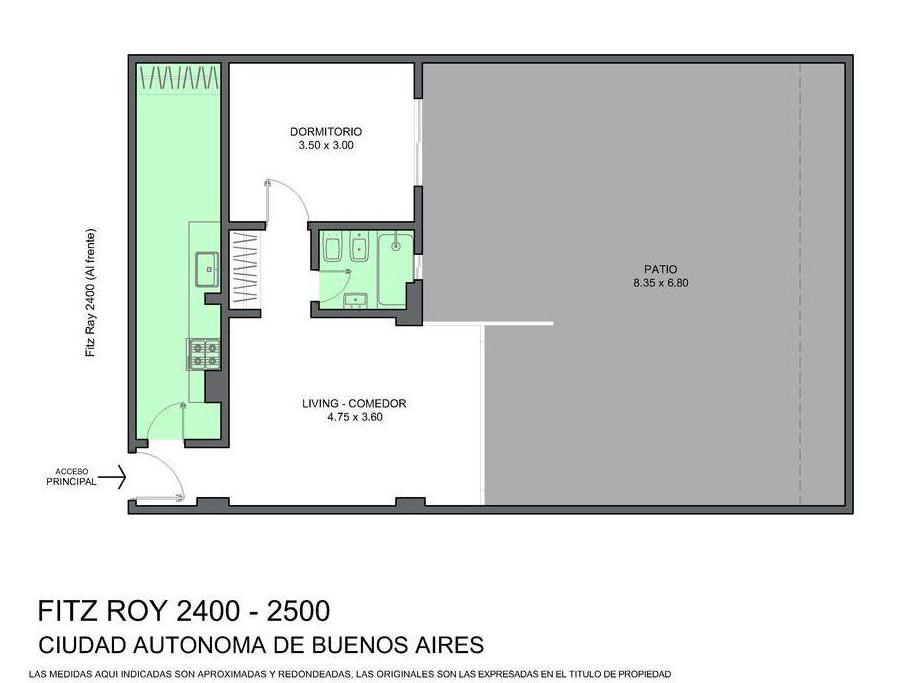 Foto Departamento en Venta en  Palermo ,  Capital Federal  Fitz Roy al 2400