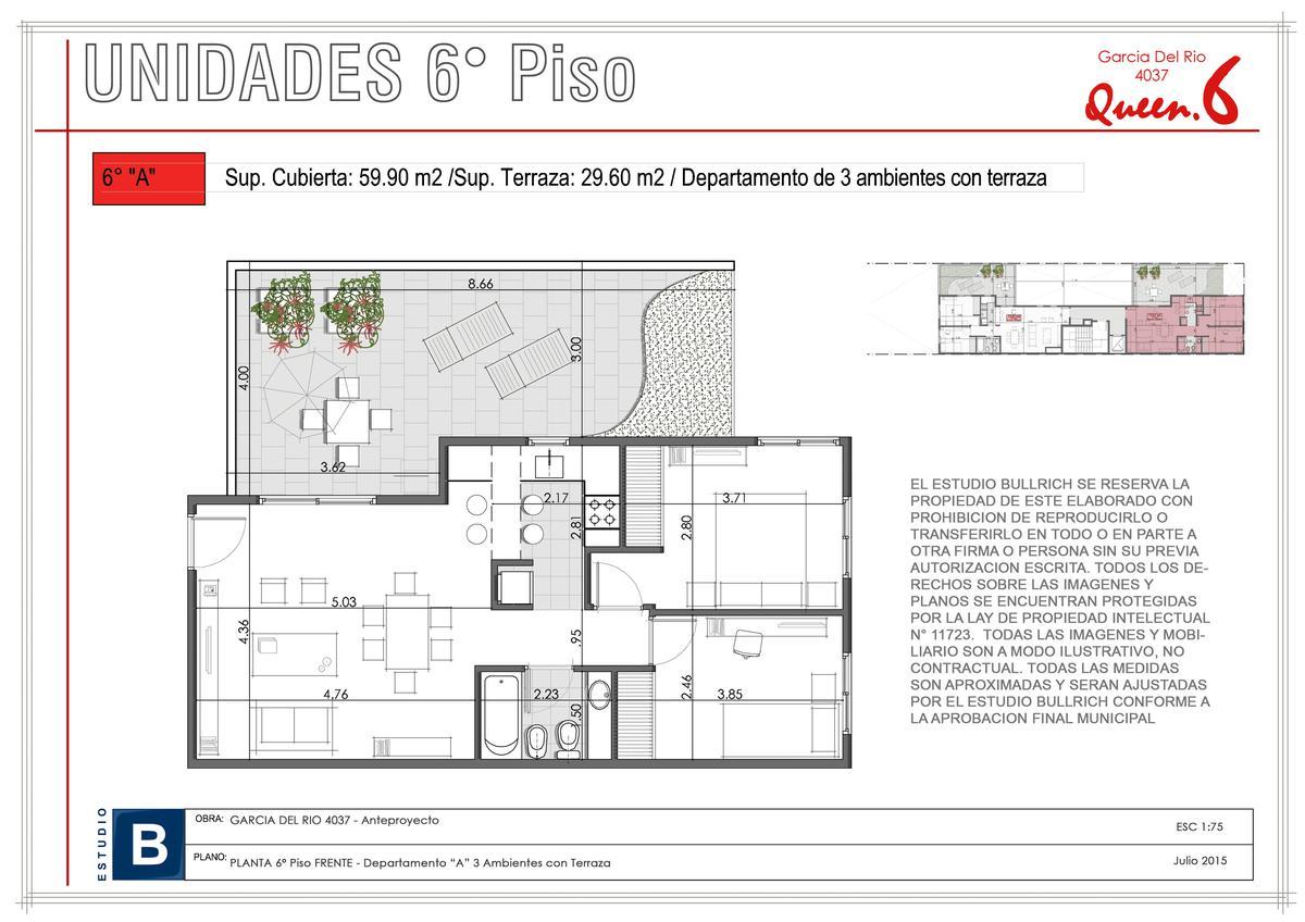 Foto Departamento en Venta en  Saavedra ,  Capital Federal  García del Río, Av. al 4000, Entre Estomba y Tronador