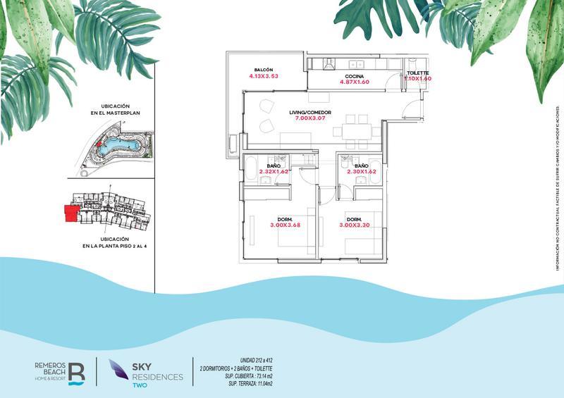 Foto Departamento en Venta en  Remeros Beach,  Countries/B.Cerrado  RB | SKY 2 - 412