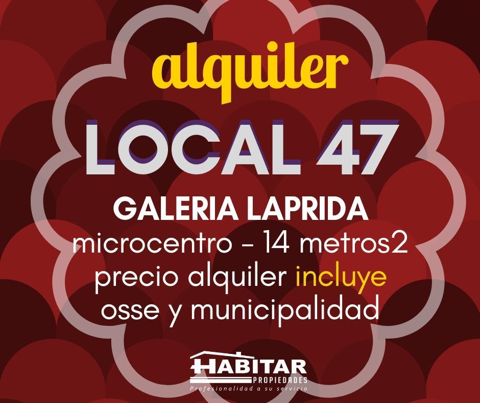 Foto Local en Alquiler en  Capital ,  San Juan  Galeria Laprida