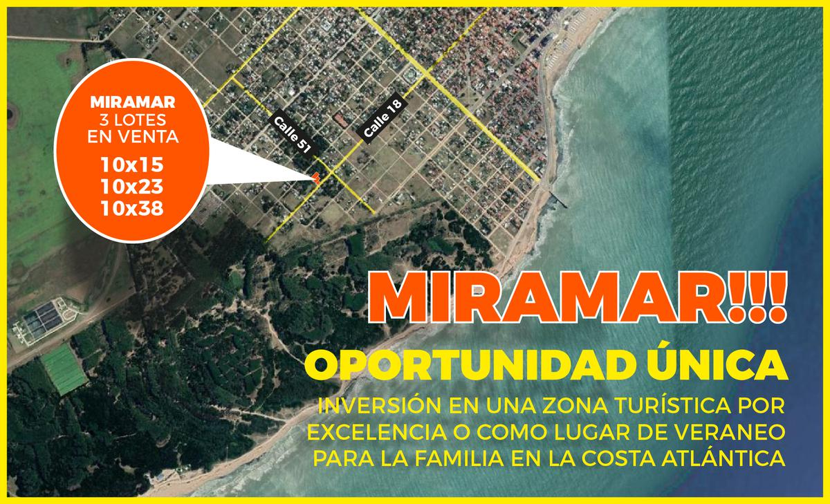 Foto Terreno en Venta en  Miramar ,  Costa Atlantica  51 esq. 18 - Miramar