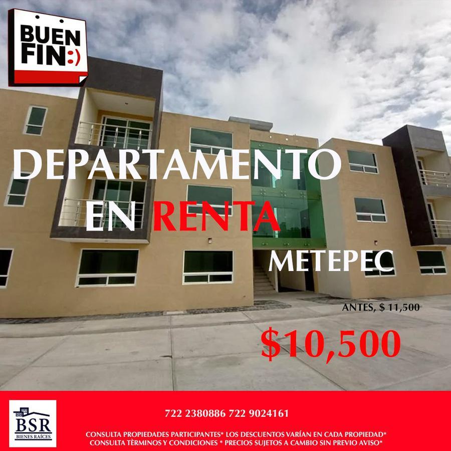 Foto Departamento en Renta en  Lázaro Cárdenas,  Metepec  Departamento en Renta 3 recámaras en Metepec