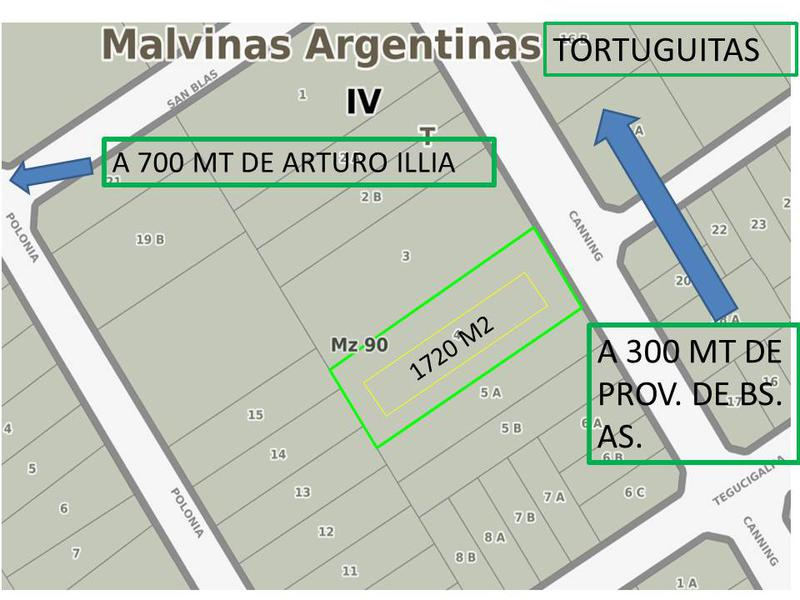 Foto Terreno en Venta en  Tortuguitas,  Malvinas Argentinas  canning al 5100