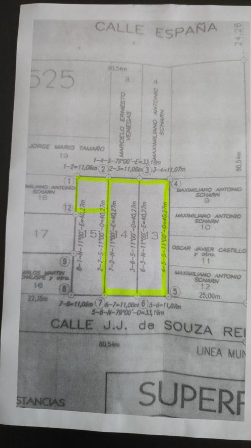 Foto Terreno en Venta en  Concordia ,  Entre Rios  reilly casi tavella